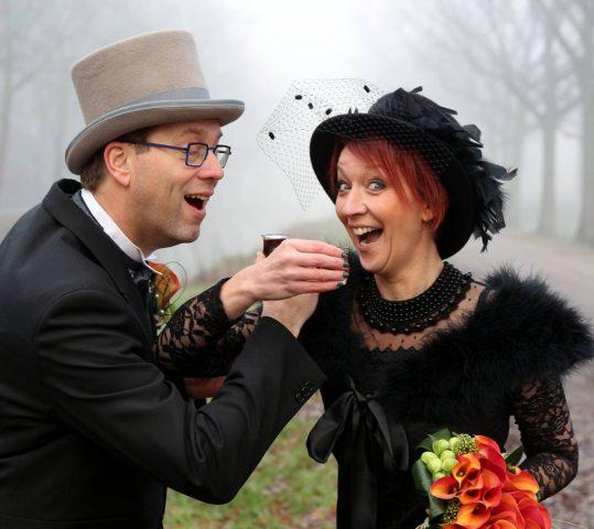 Lang leve het bruidspaar!